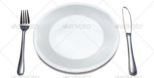 Dinner Plate Set - Food Objects