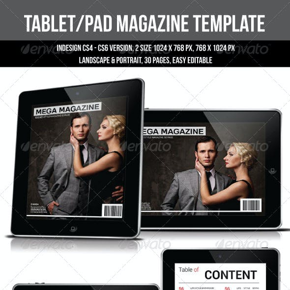 Tablet/Pad Magazine Template