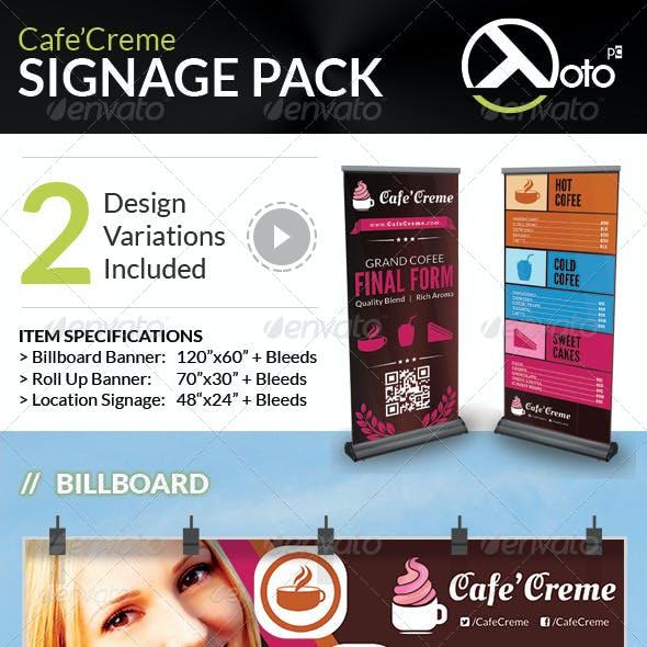 Cafe Creme Signages Pack