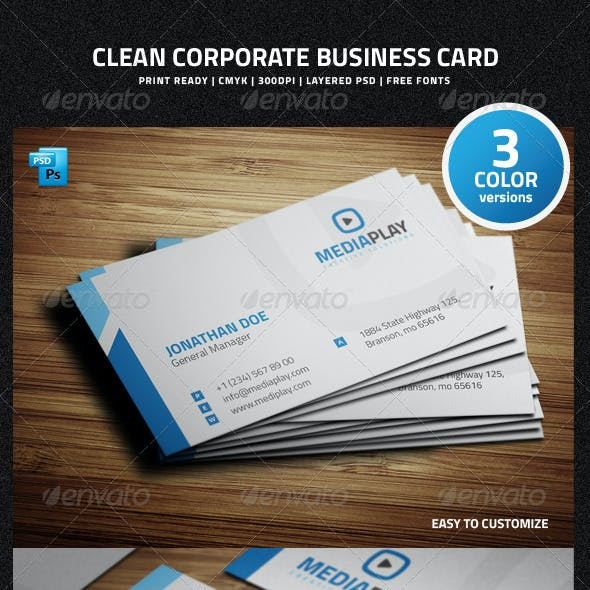 Clean Corporate Business Card - 29