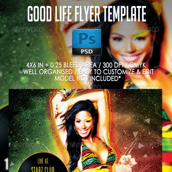 Good Life Party Flyer Template