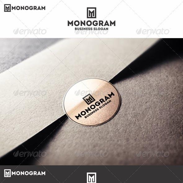 Monogram M Logo Letter