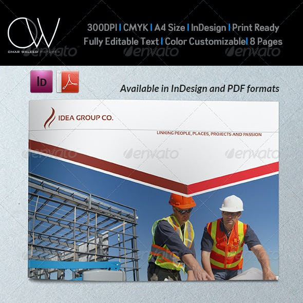 Corporate Brochure Template Vol.24 - 8 Pages