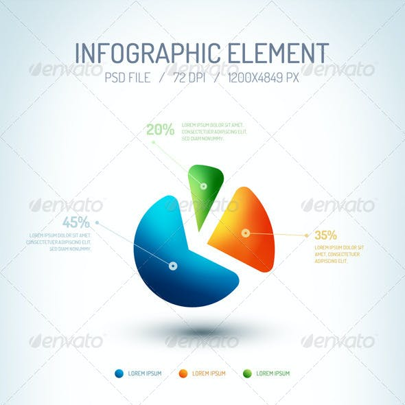 Infographic Element PSD