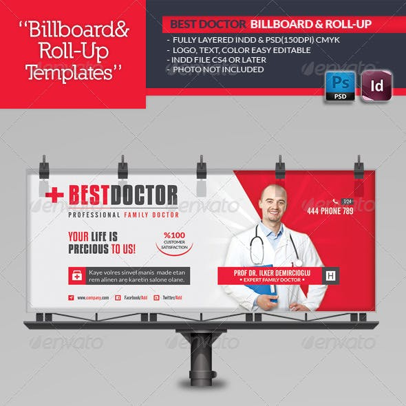 Doctor Billboard Roll-Up Template