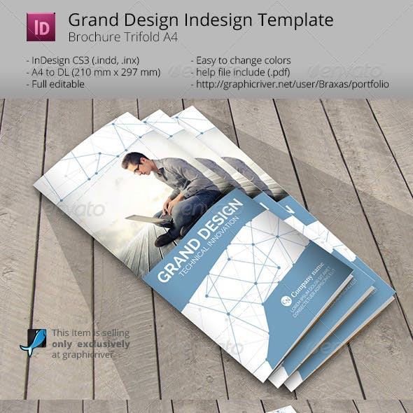 Grand Design Trifold Indesign Template