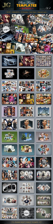 Photo Frame Templates Bundle V1 - Miscellaneous Photo Templates