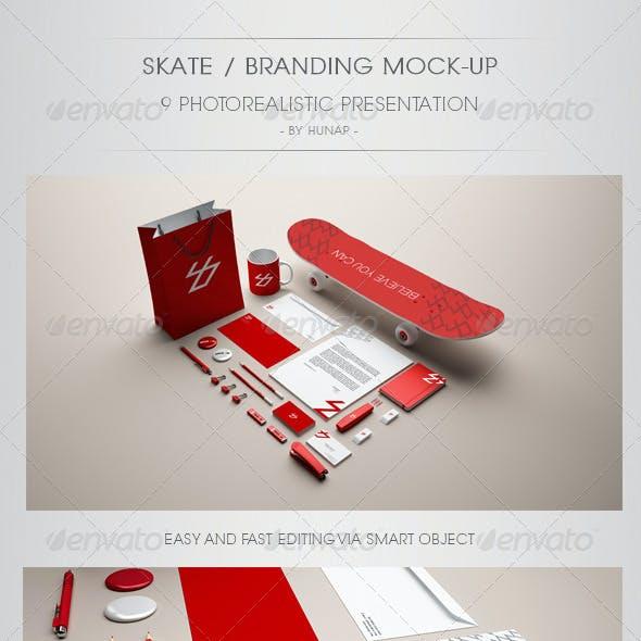 Skate Stationery Branding Mock Up