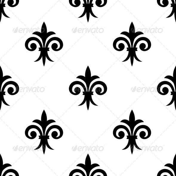 Fleur de Lys Seamless Pattern