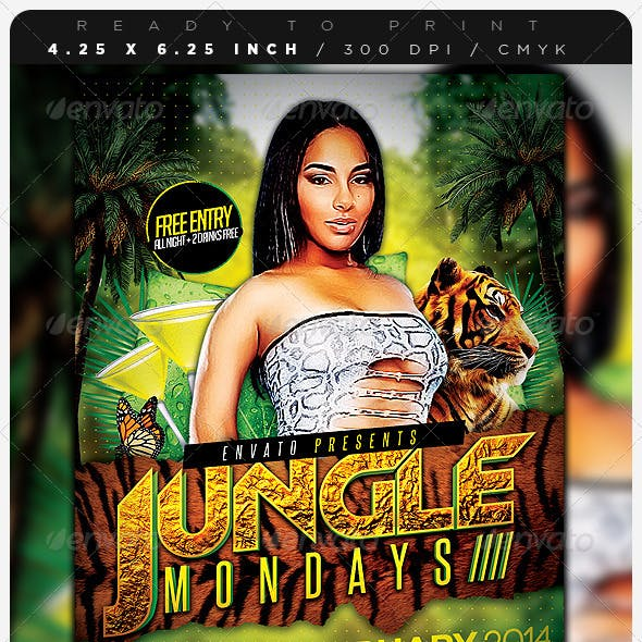 Jungle Days Party Flyer