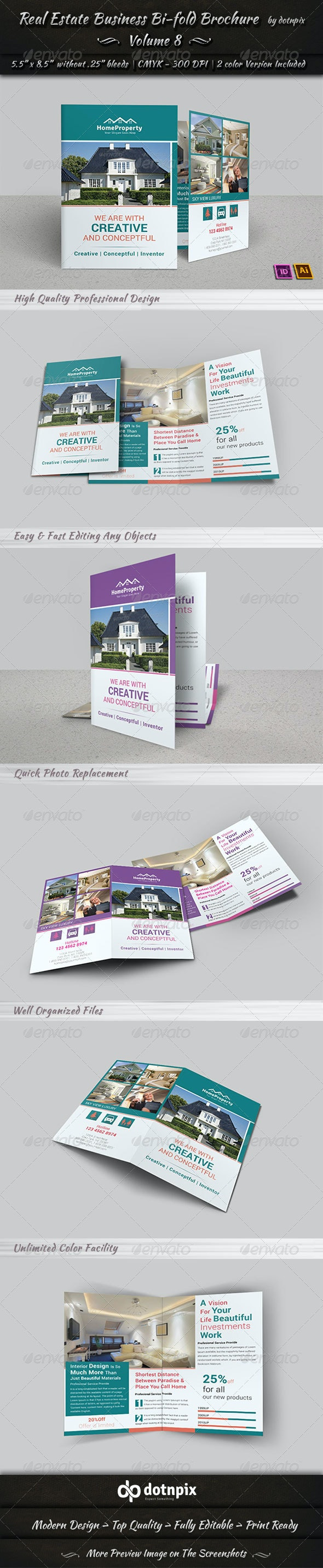 Real Estate Business  Bi-Fold Brochure | Volume 8 - Corporate Brochures