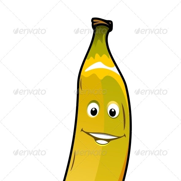 Cheeky Smiling Cartoon Banana