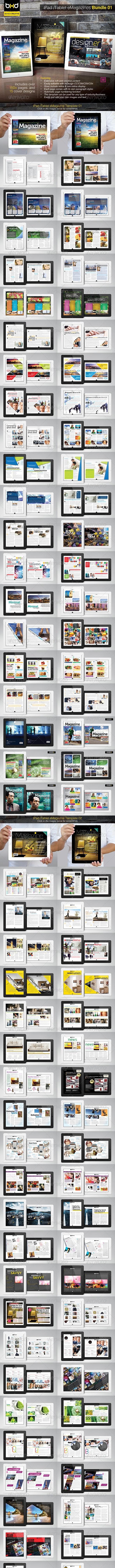 iPad/Tablet eMagazine InDesign Bundle V1 - Digital Magazines ePublishing