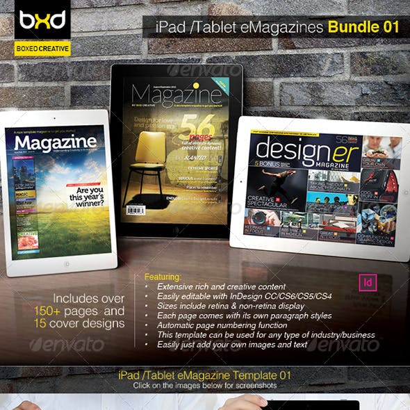 iPad/Tablet eMagazine InDesign Bundle V1