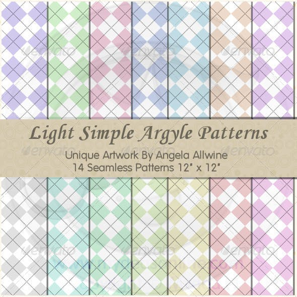 Light Simple Argyle Pattern Set