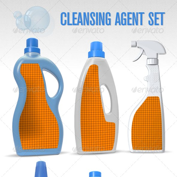 Cleansing Agent Mock-Up Set