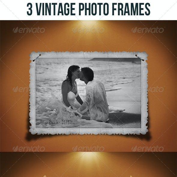3 Vintage Photo Frames Bundle