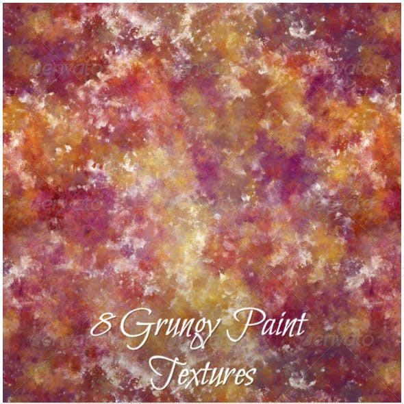 8 grungy Paint Textures