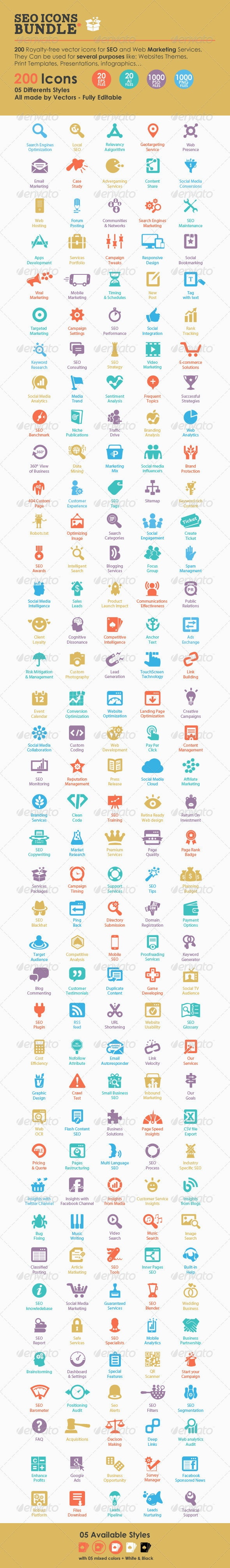 SEO Icons Bundle - Web Icons