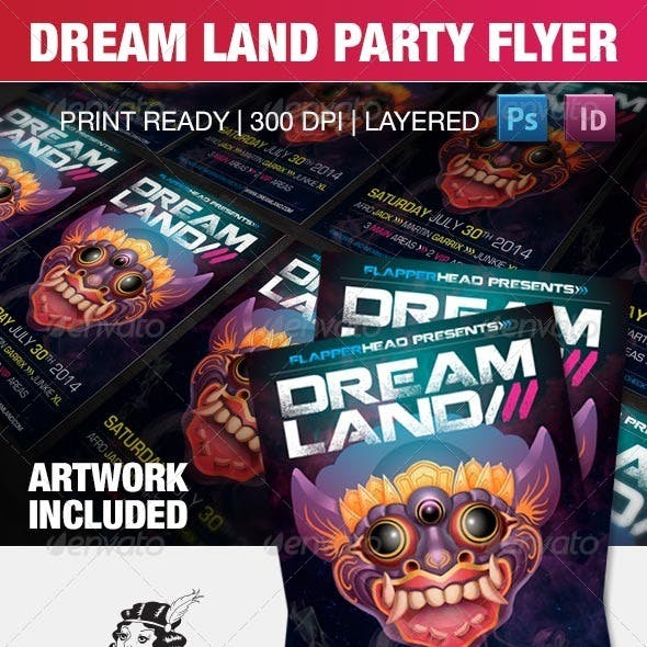 Dream Land Party Flyer