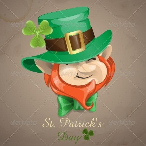 St Patrick's Day Leprechaun Face - Miscellaneous Seasons/Holidays