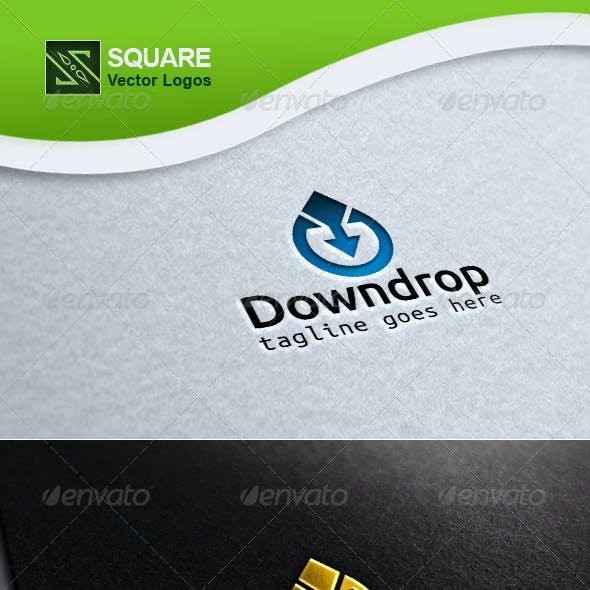Drop Down Arrow Vector Logo Template