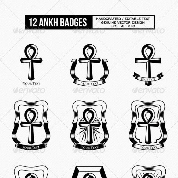 12 Ankh Badges