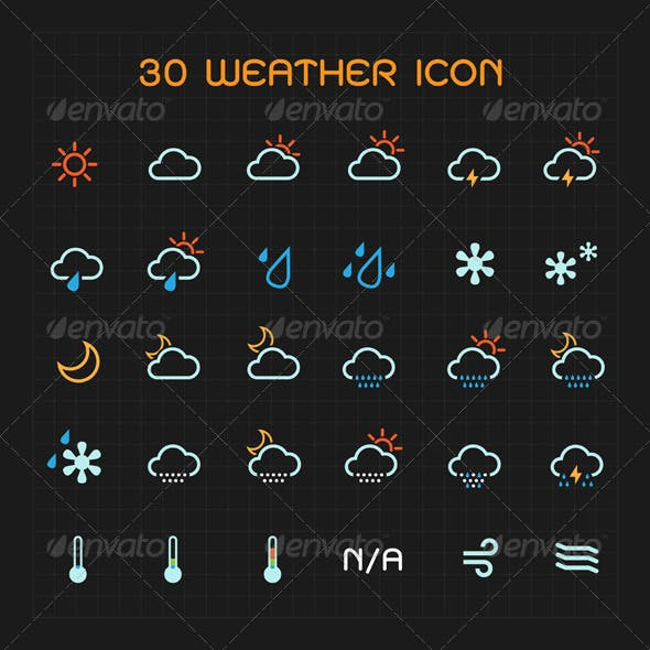 Color Weather Icon Set