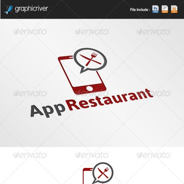 App Restaurant Logo Template