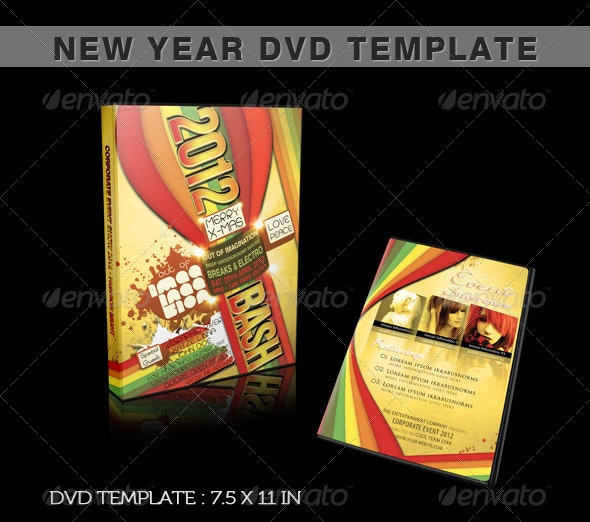 New Year DVD Template - Miscellaneous Print Templates