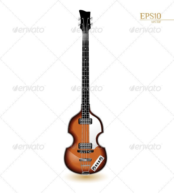 Viola Sixties Electric Bass Guitar - Man-made Objects Objects