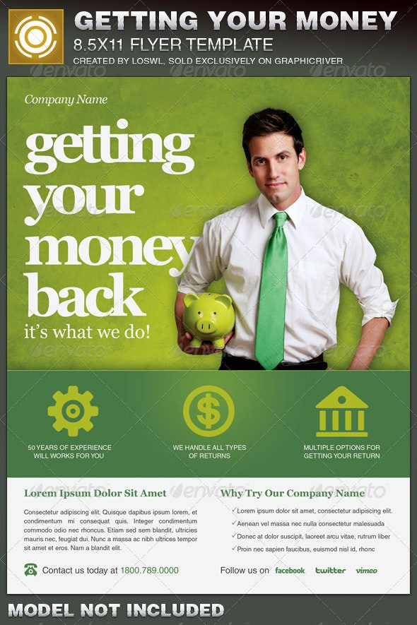 Getting Your Money Back Tax Flyer Template - Corporate Flyers