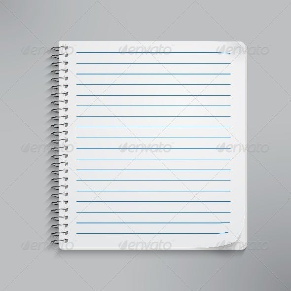Realistic Spiral Notebook