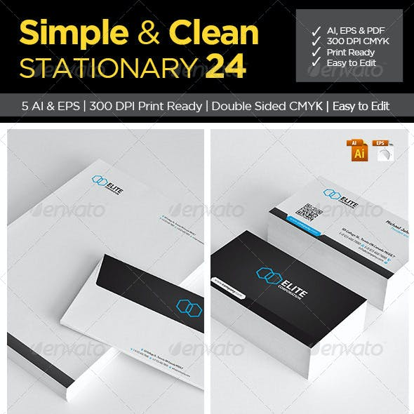 Simple and Clean Stationery 24