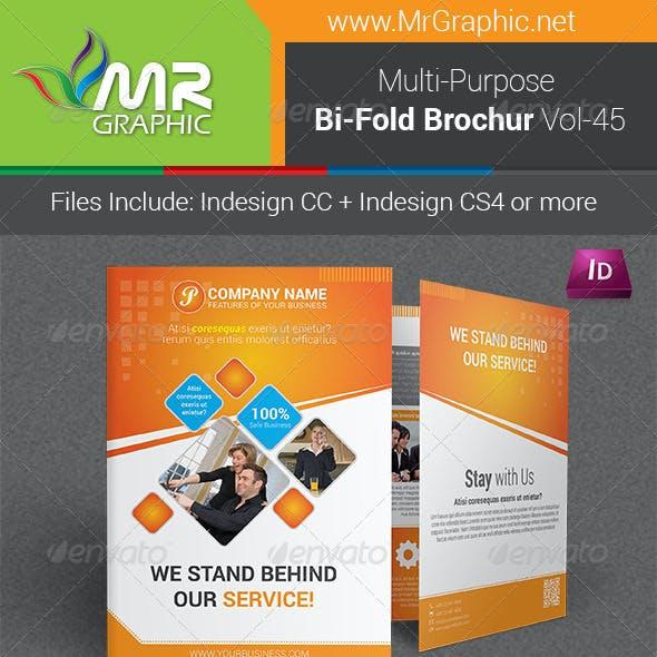 Multipurpose Bifold Brochure Template Vol-45