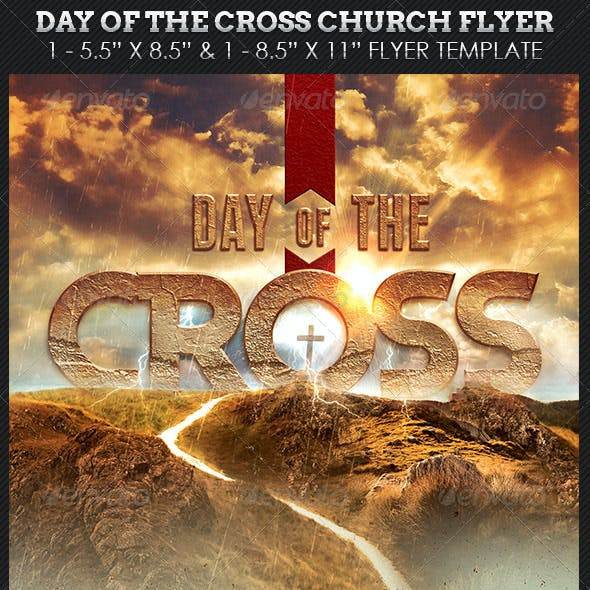 Cross Day Church Flyer Template