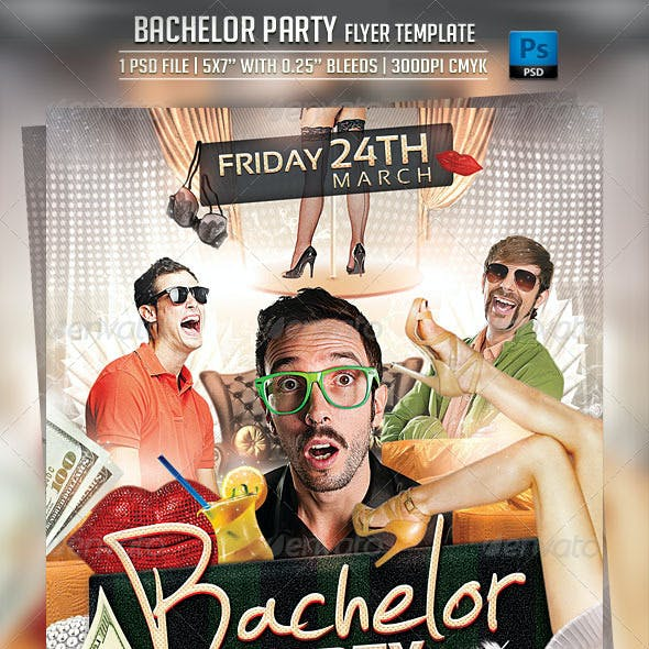 Bachelor Party Flyer Template