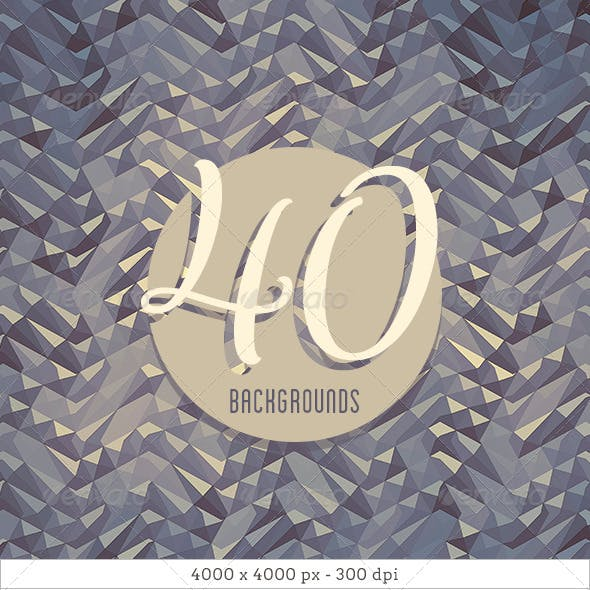 40 Diamonds Background