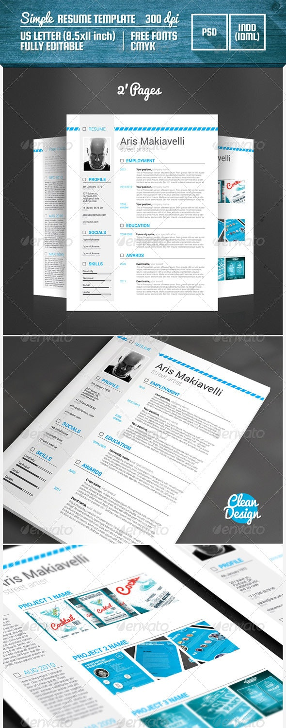 Simple Resume Template - Resumes Stationery