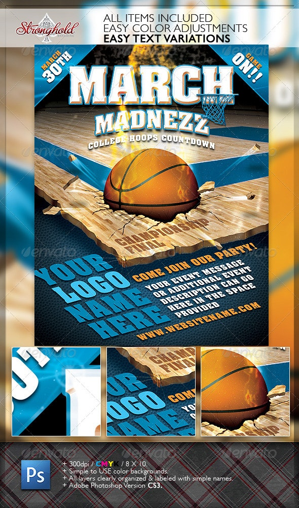 March Madnezz Championship Flyer - Sports Events