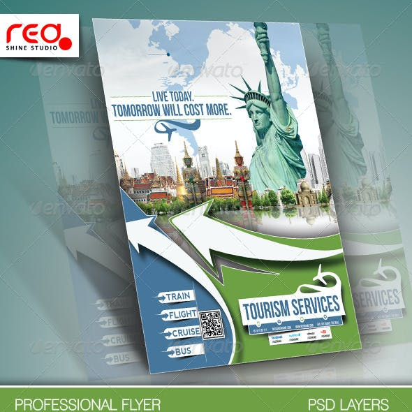 Travel Tours Flyer Template