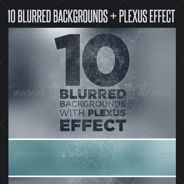 10 Blurred Backgrounds with Plexus Effect