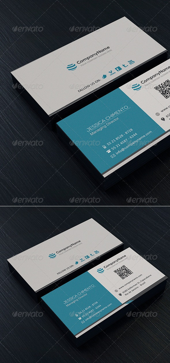 Clean Business Card Vol. 03 - Corporate Business Cards