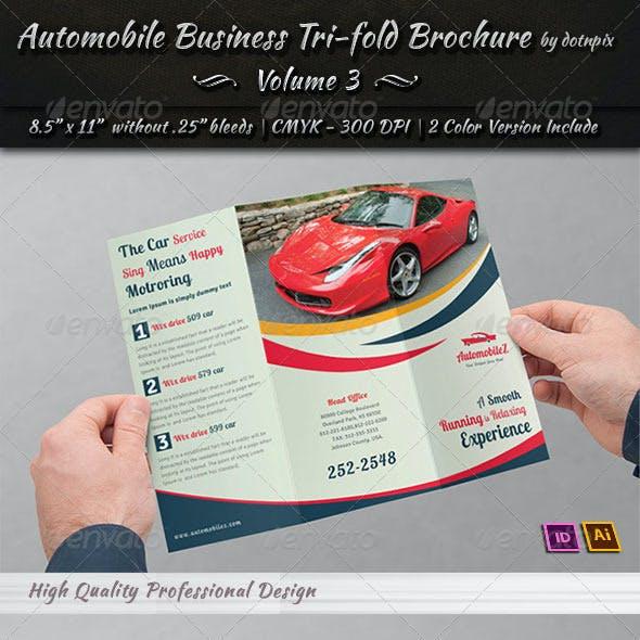 Automobile Business Tri-Fold Brochure | Volume 3