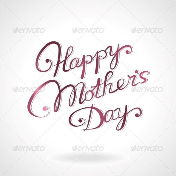 Happy Mother's Day Hand-Drawn Lettering