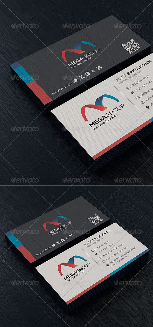 Clean Business Card Vol. 05 - Corporate Business Cards