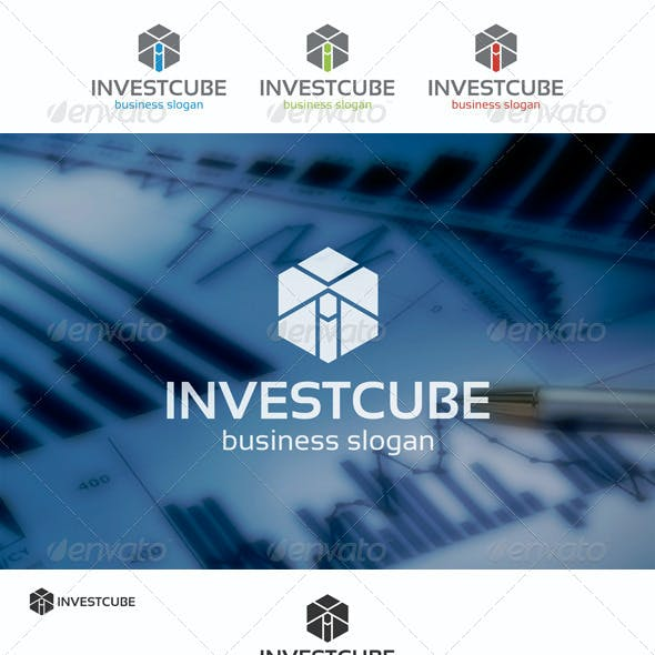 Invest Cube Logo Template