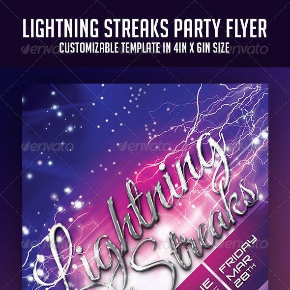 Lightning Streaks Party Flyer