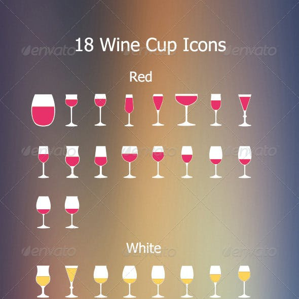 18 Wine Cups Icon