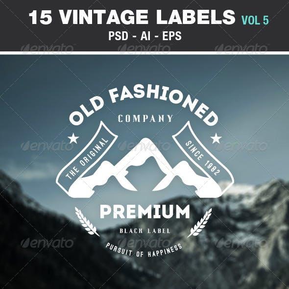 Retro Vintage Labels & Badges Logos V5